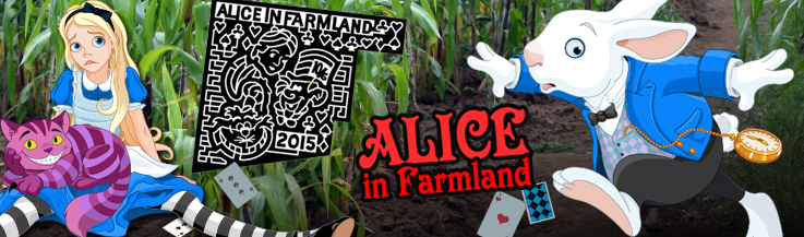 Giant Corn Maze 2015 - Alice in Farmland!