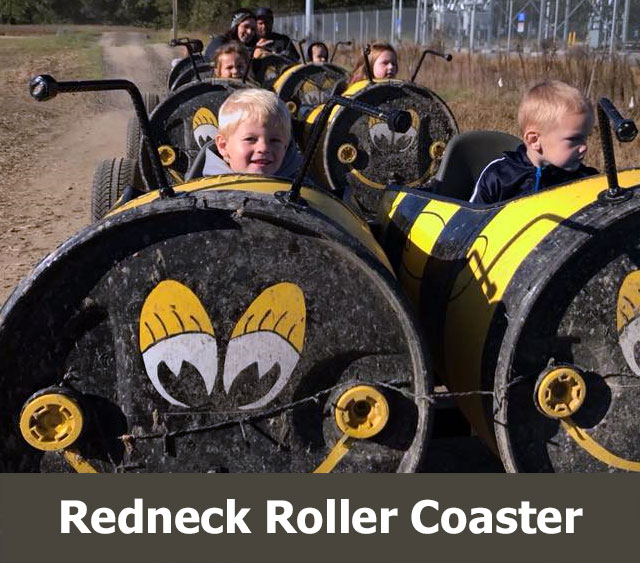Things to Do Virginia: Redneck Roller Coaster Barrel Trains